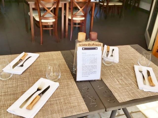 La Table du Prieuré Notre terrasse